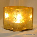 glass silver votive candle holder