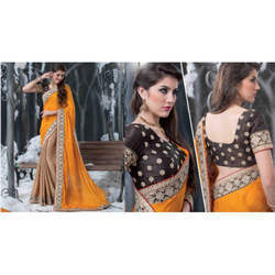 Fancy Orange Sarees