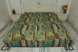 Kantha Bed Cover Zikzak Multi Design Gudri