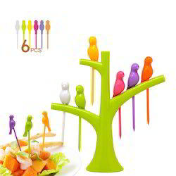 Kawachi Trees Bird Fruit Fork Tableware Dinnerware Sets