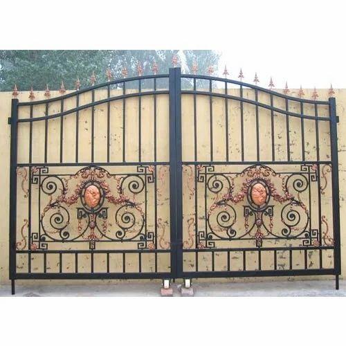 Beautiful Main Gate Manual Steel Gate Jamia Nagar
