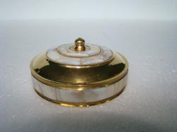 Brass MOP Trinket Box