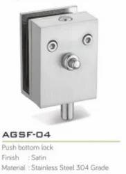 Glass Push Bottom Lock