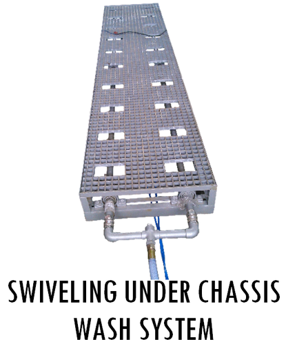 Swivelling Under Chassis Wash System