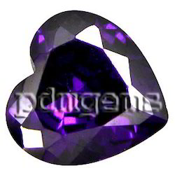 African Amethyst Faceted Heart Gemstone