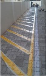 Line Marking on Concrete Surface