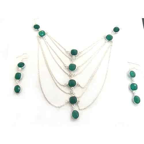 Designer Bezel Necklace Set