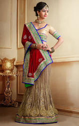 Red+and+Gold+Color+Jacquard+Designer+Sarees+with+Blouse