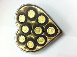 Heart 9 PCs Golden Inner