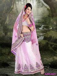 Designer Net Saree Lehenga Style