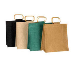 Jute Single Wine Bottle Bags