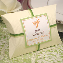 Custom Made , Custom Printed Pillow Boxes for Weddings