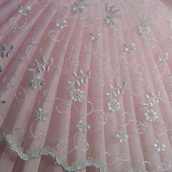 Embroidered Net Fabric Jaali Ka Kadaidar Kapdaa Latest Price Manufacturers Suppliers