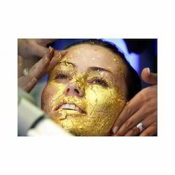 cosmetic face pack gold leaves