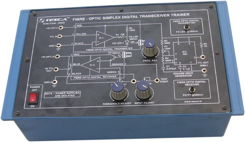 Fibre Optic Simplex Digital Transceiver Trainer