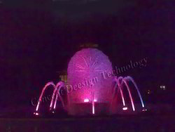 Dandelion Fountain with Angular Foam Effect