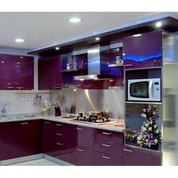 Stainless steel modular kitchens stainless steel bottle for Stainless steel modular kitchen designs
