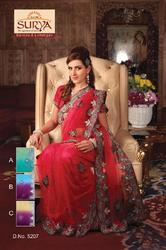 Designer Party Wear Sarees  5207