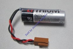 Toshiba Er6c AA 3.6v Lithium Battery Brown Fanuc Connector