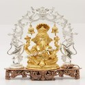 Gold Plated Ganesha with Arch