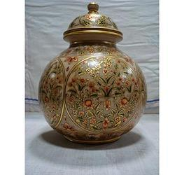 Beautiful Handcrafted Marble Pot with Top