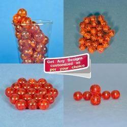 Handmade Orange Colored Resin Beads