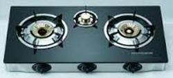 Automatic Gas Stove Three Burner with Glass