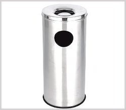 stainless steel ash and trash can