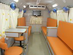Interior of Three Bed Blood Donor Van