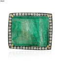 Emerald Gemstone Carved Finding