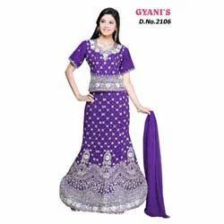 Purple Stylish Ghagra Choli