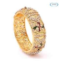 Brass Diamond Bangle