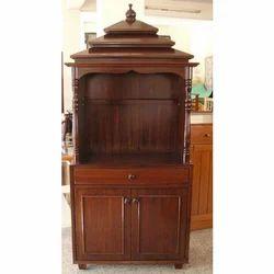 Wooden Pooja Cabinet