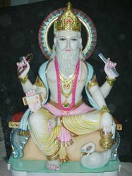 Marble Vishwakarma Moorti