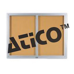Indoor Enclosed Aluminum Bulletin Boards 2 Doors