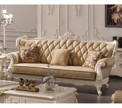 Lounge Designer Furniture: Royal Wooden Sofa Manufacturer From