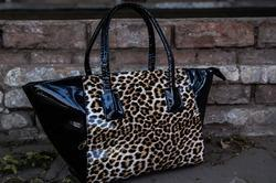 Leopard Tote Glossy Bags
