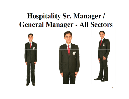 general manager hotel uniform