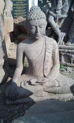 Lord Buddha Sitting Sand Stone Statue
