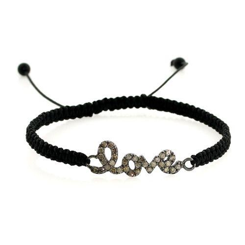Initial Love Diamond Macrame Bracelet