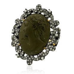 Pave Diamond Cameo Ring Jewelry