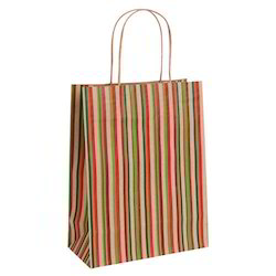 Printed Kraft Paper Shopping Bags