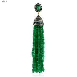 Emerald Tassel Pendant Jewelry