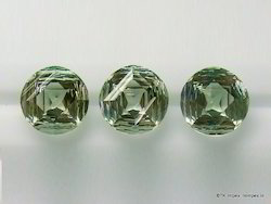 Fancy Green Round Amethyst Concave