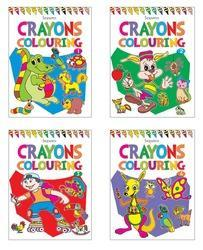 Crayons Colouring Book