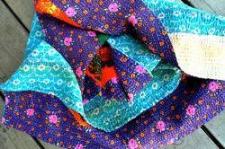 Handmade Kantha Sari Quilt