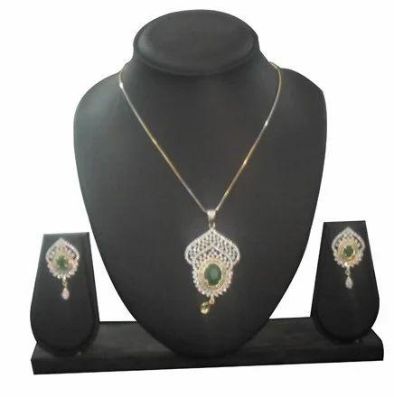 CZ Pendant Sets Jewellery CZ Designer Pendant Set Wholesale