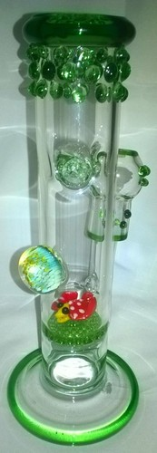 Glass Single Disk Honeycomb Water Pipe