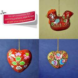 Decorative Christmas Hanging Ornaments - Paper Mache Craft