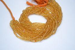 Citrine Quartz Faceted Beads